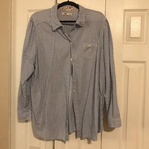 Old Navy Blue & White Button Down